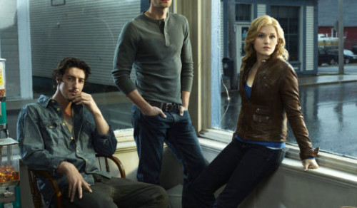 From Left to Right: Eric Balfour, Lucas Bryant, and Emily Rose as Duke Crocker, Nathan Wuornos, and Audrey Parker