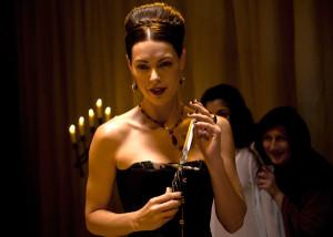 """Louise Griffiths in Chastity Bites as """"Liz Batho / Elizabeth Bathory"""""""