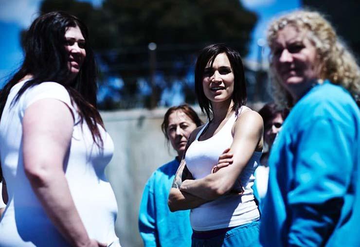 Katrina Milosevic (left), Nicole da Silva (center), Celia Ireland (right)