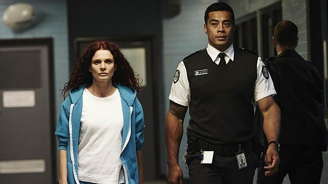 Danielle Cormack (Bea Smith) and Robbie Magasiva (Will Jackson)