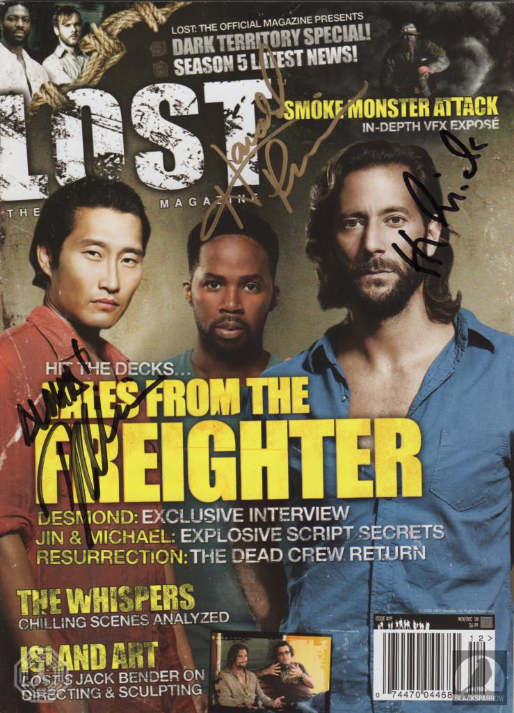LOST magazine signed by Henry Ian Cusick, Daniel Dae Kim, Harold Perrineau